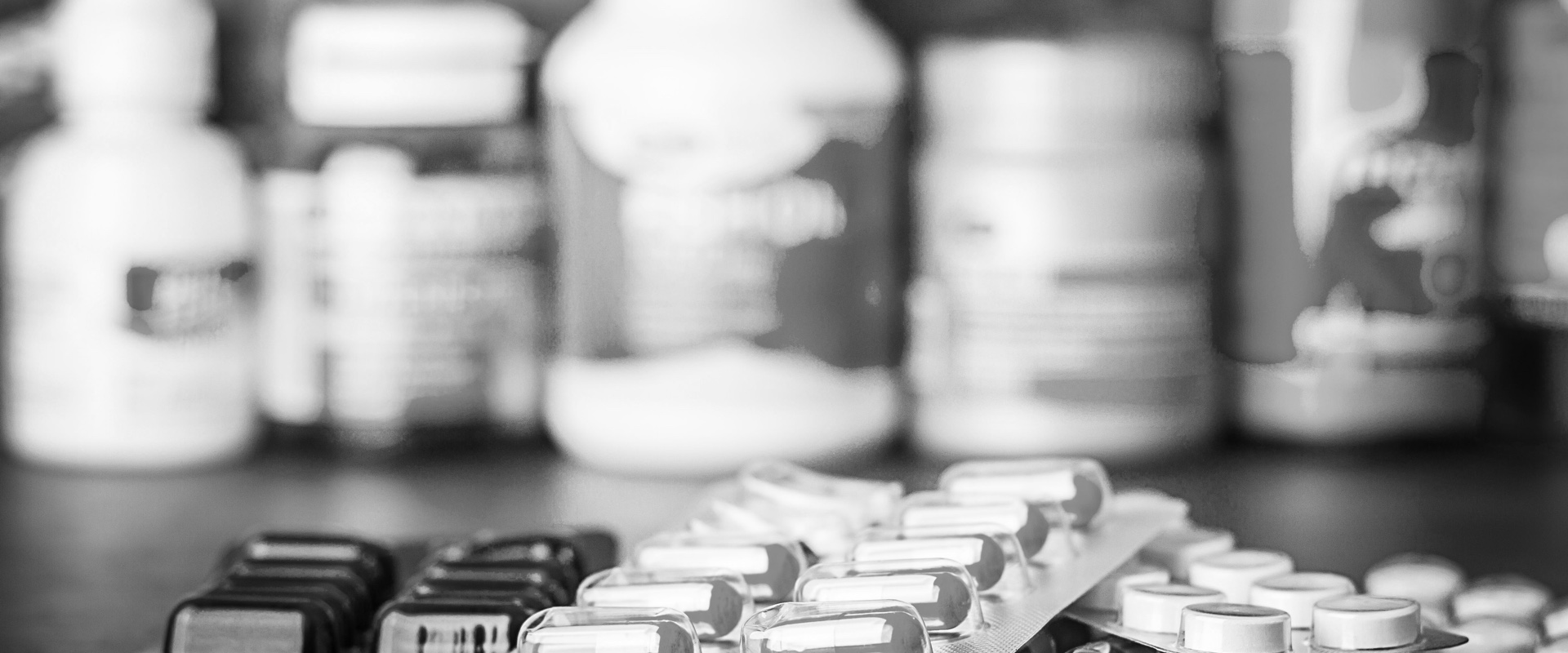 pills on counter