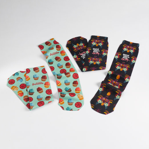 17″ Dye Sublimated Tube Socks (Pair)
